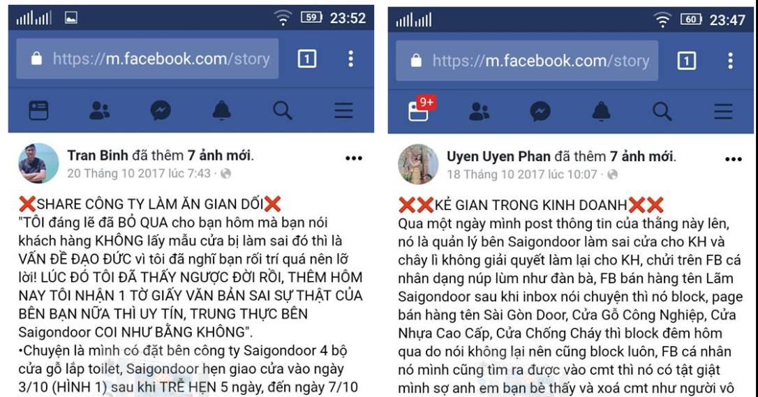 """Hành trình đi tìm chủ nhân Facebook cảnh bảo """"SaigonDoor lừa đảo"""""""