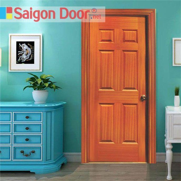 Cửa gỗ HDF VENEER 6A – SAPELE - 0933.707.707 -  0834.300.300