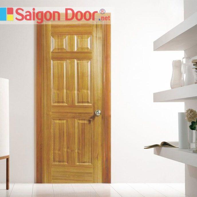 Cửa gỗ HDF VENEER 6A – TEAK - 0933.707.707 -  0834.300.300