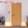 Cửa gỗ chống cháy SGD-P1 phong phú về màu sắc.