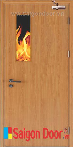 Cửa gỗ chống cháy SGD-P1G1