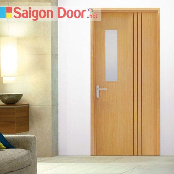 Cửa gỗ chống cháy SGD-P1G1R3 phong phú về màu sắc.