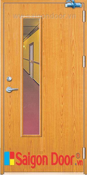 Cửa gỗ chống cháy SGD-P1GL