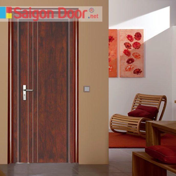 Cửa gỗ chống cháy SGD-P1R3 phong phú về màu sắc.