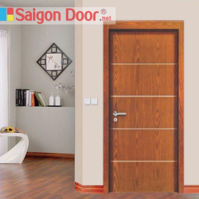 Cửa gỗ chống cháy SGD-P1R4A phong phú về màu sắc.