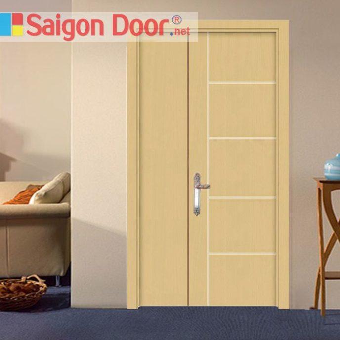 Cửa gỗ chống cháy SGD-P1R5 phong phú về màu sắc.