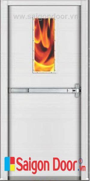 Cửa thép chống cháy TCC-P1G1B bền, đẹp, chắc chắn.