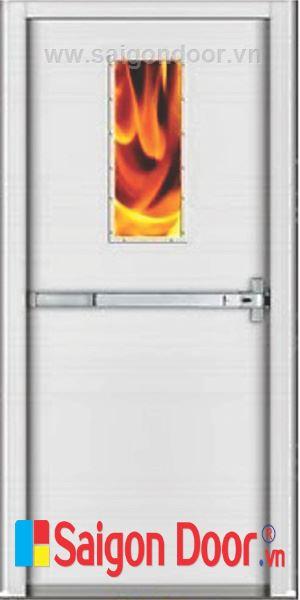 Cửa thép chống cháy TCC-P1G1B