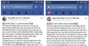 chu nhan facebook blog web saigondoor lua dao