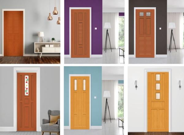 Cửa gỗ được thiết kế đa dạng về màu sắc, kiểu dáng