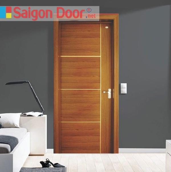 Cửa gỗ công nghiệp MDF Veneer cho phòng ngủ với thiết kế tinh xảo, màu sắc bắt mắt