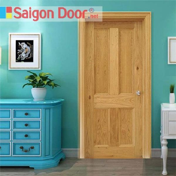Mẫu cửa gỗ cho phòng ngủ có thiết kế đơn giản