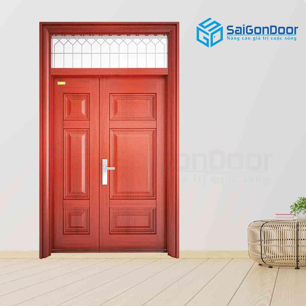 Vừa an toàn vừa phù hợp với màu mệnh hoả với màu sắc cửa