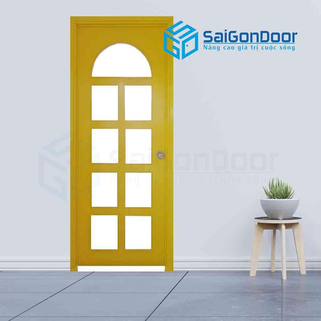 Màu sắc cửa phù hợp với những gia chủ có mệnh kim với màu vàng là màu bản mệnh