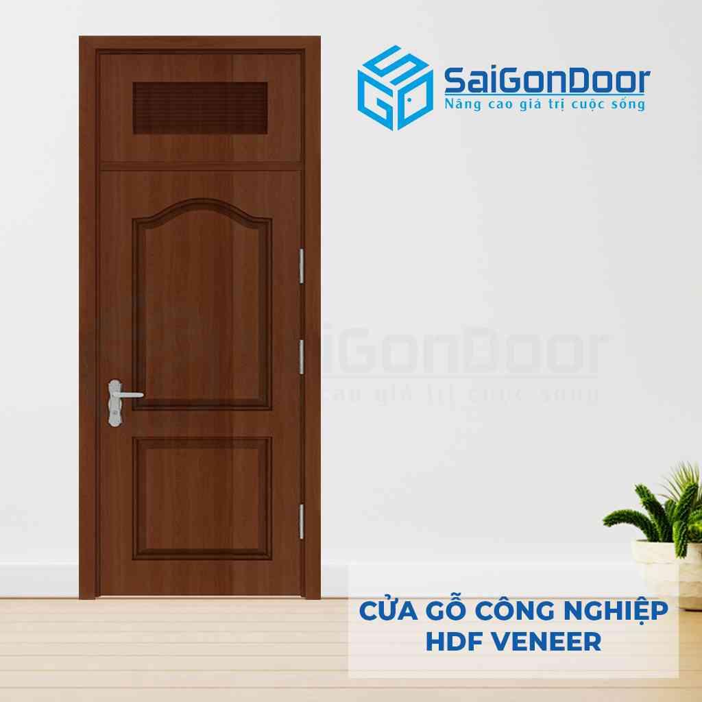 Cửa gỗ công nghiệp HDF Veneer 1 cánh dùng làm cửa phòng ngủ cách âm
