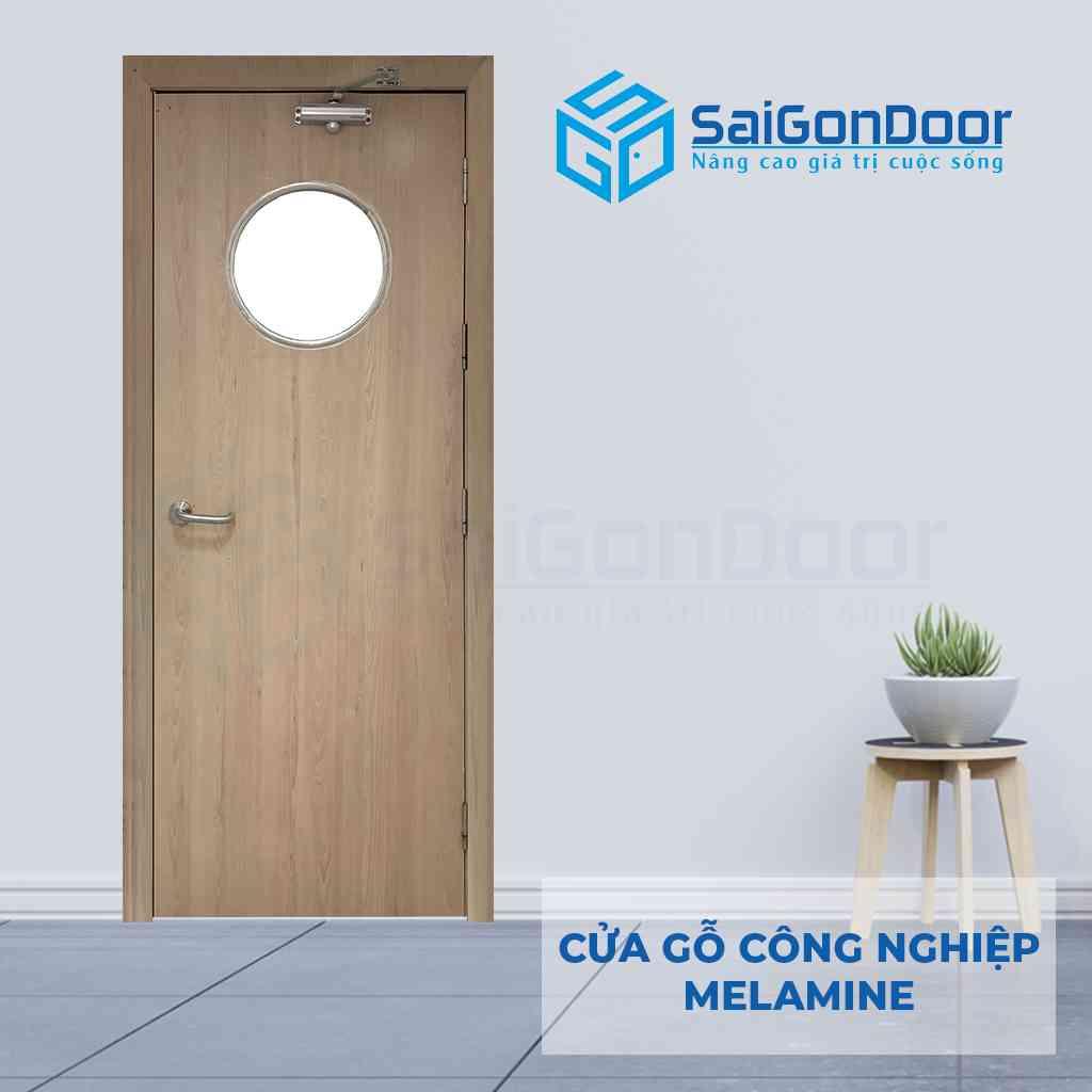 Cửa gỗ MDF Melamine thích hợp dùng làm cửa phòng ngủ