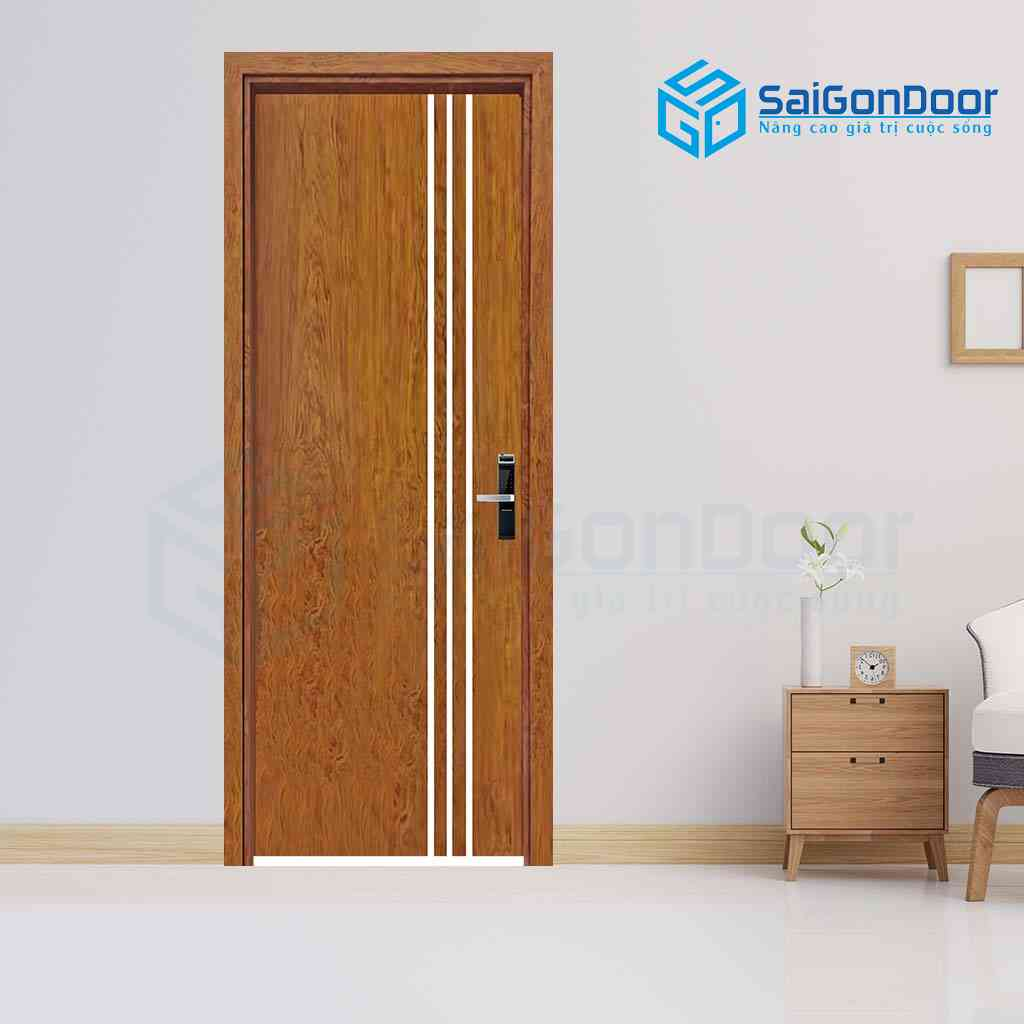 Mẫu cửa gỗ  phủ nhựa PVC tăng khả năng chống nước và giảm trầy xước bề mệt