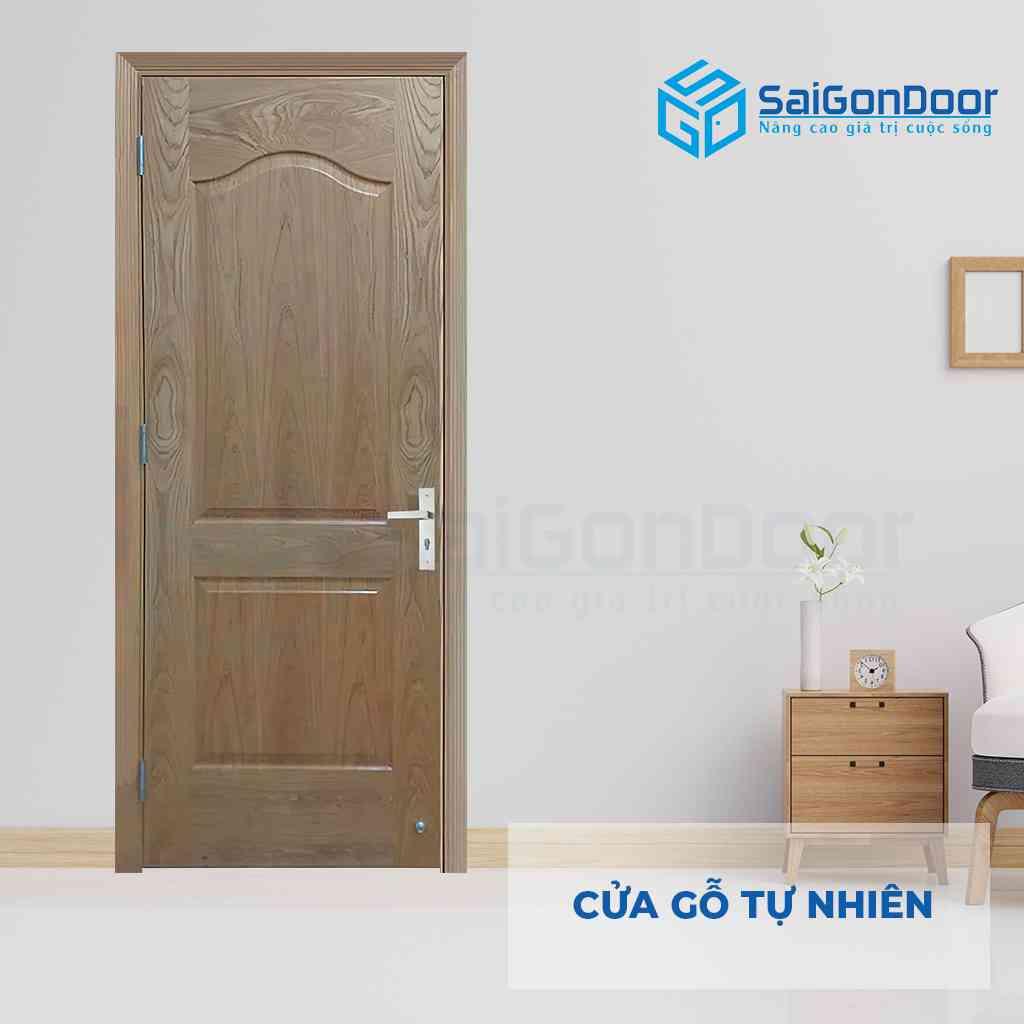 Mẫu cửa gỗ phòng ngủ được làm từ gỗ tự nhiên