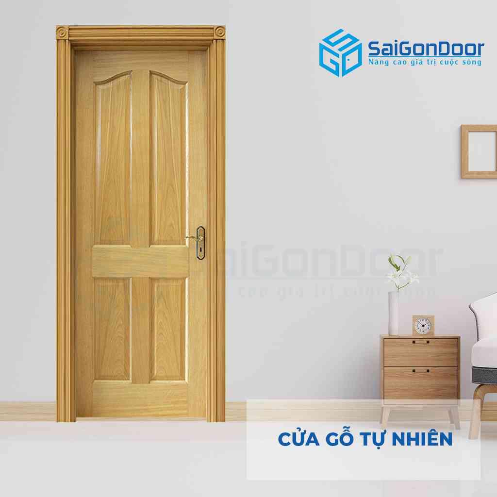 Mẫu cửa gỗ tự nhiên cao cấp được làm từ gỗ Ash cùng thiết kế cổ điển cách tân