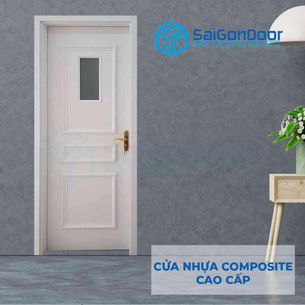 Cửa nhựa giả gỗ Composite cao cấp dùng làm cửa phòng ngủ