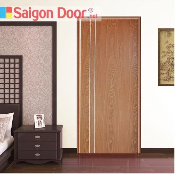 Mẫu cửa gỗ công nghiệp MDF Veneer vân gỗ