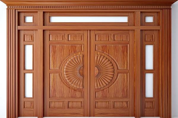 Kích thước hợp phong thủy cho cửa gỗ 4 cánh không bằng nhau là bao nhiêu?