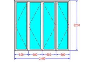 Kích thước cửa đi 4 cánh bằng nhau theo phong thủy tốt cho gia chủ