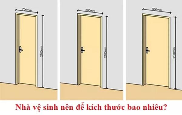 Kích thước của cửa nhà vệ sinh theo phong thủy