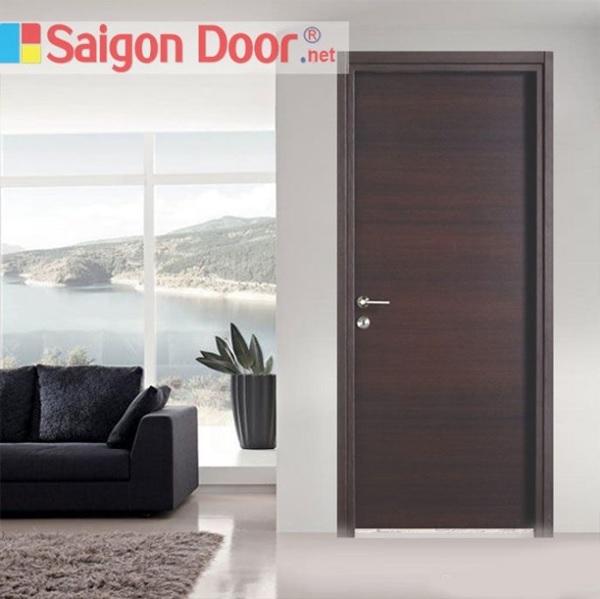Mẫu cửa gỗ MDF màu sắc sang trọng, thích hợp cho những phòng ngủ thiết kế theo phong cách hiện đại