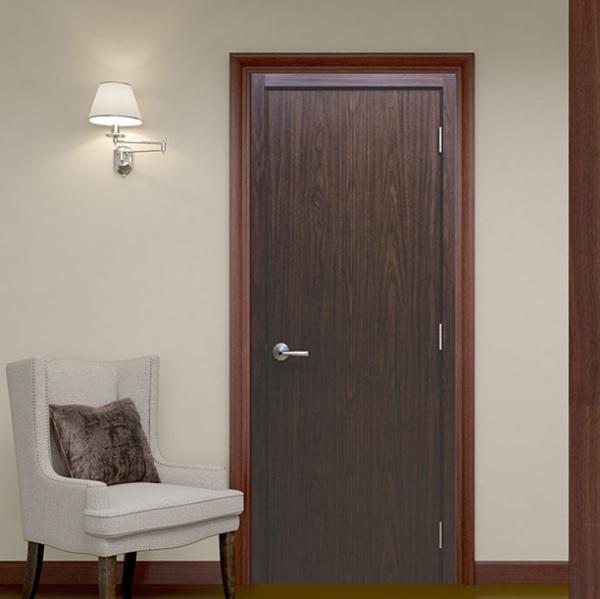 Mẫu cửa gỗ MDF với thiết kế đơn giản, màu sắc mới lạ