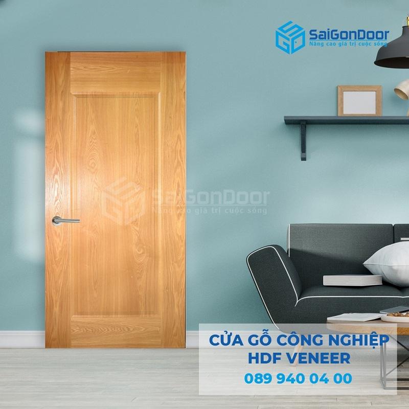 Cua go cong nghiep HDF veneer 1B ash