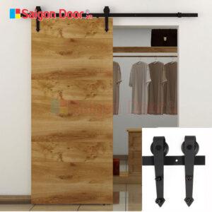 Cửa lùa gỗ công nghiệp MDF cho nhà ở