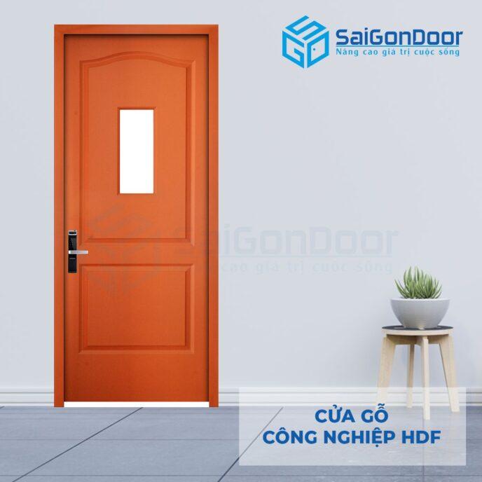 Cửa gỗ công nghiệp HDF 2G1 C9