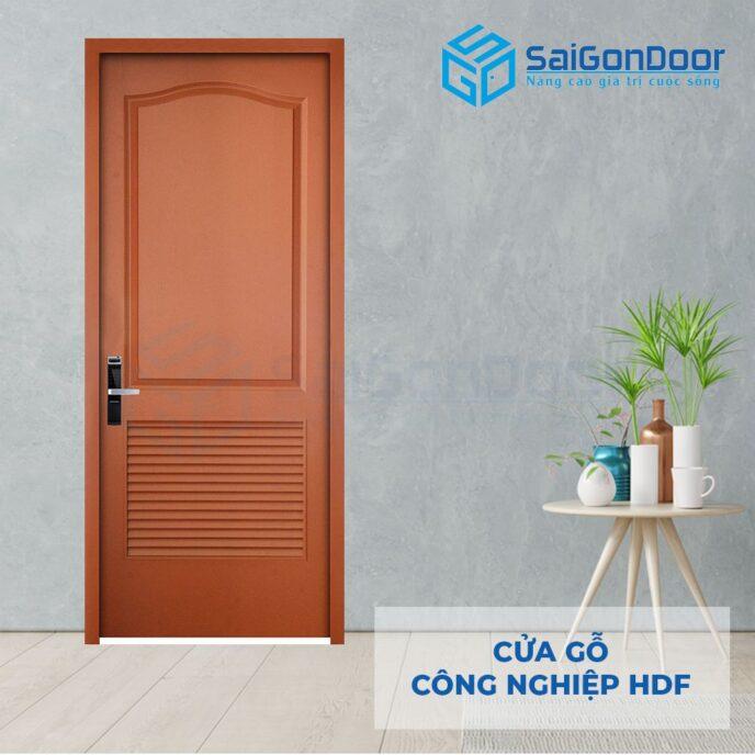 Cửa gỗ công nghiệp HDF 2L C10