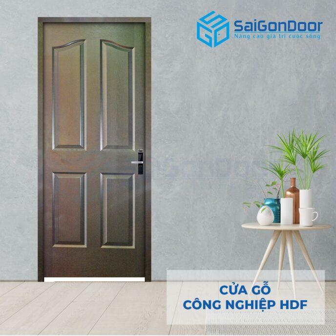 Cửa gỗ công nghiệp HDF 4A C14 3