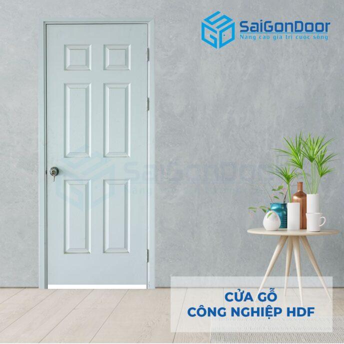 Cửa gỗ công nghiệp HDF 6A C1 2