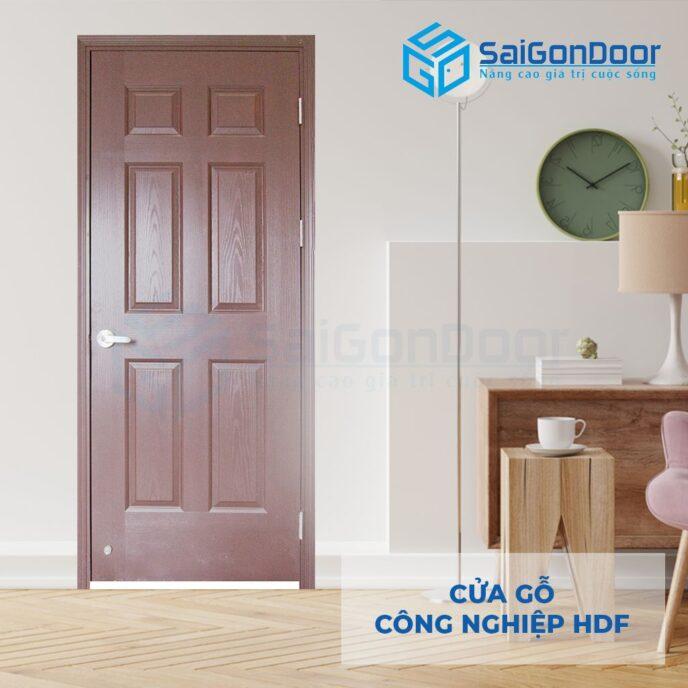 Cửa gỗ công nghiệp HDF 6A C10