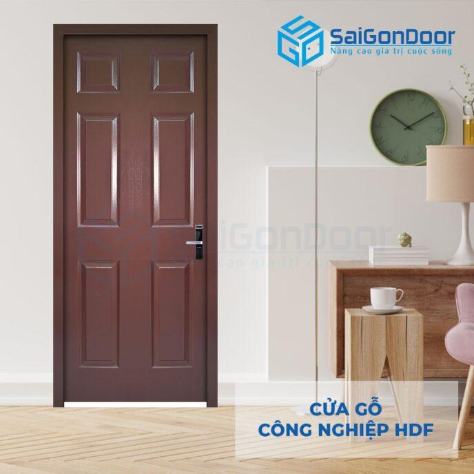 Cửa gỗ công nghiệp HDF 6A C11