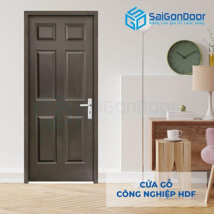 Cửa gỗ công nghiệp HDF 6A C14