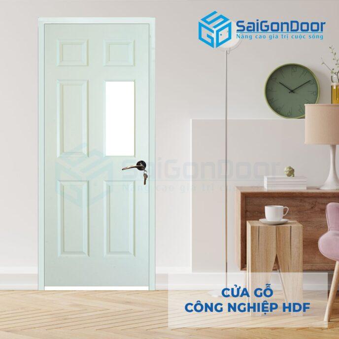 Cửa gỗ công nghiệp HDF 6AG1 C10