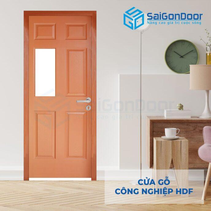 Cửa gỗ công nghiệp HDF 6G1 C10