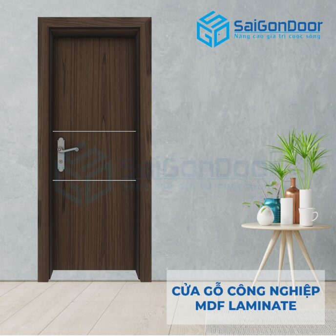 Cửa Gỗ Công Nghiệp MDF Laminate P1R2bs
