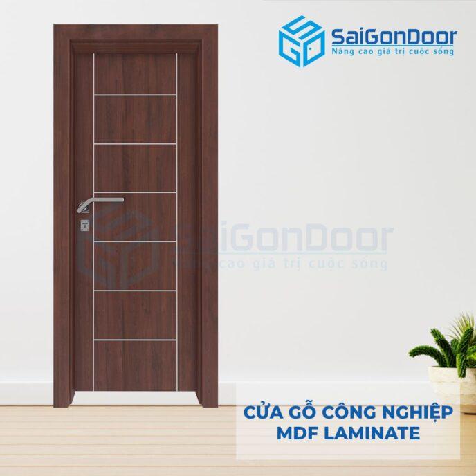 Cửa Gỗ Công Nghiệp MDF Laminate P1R8s