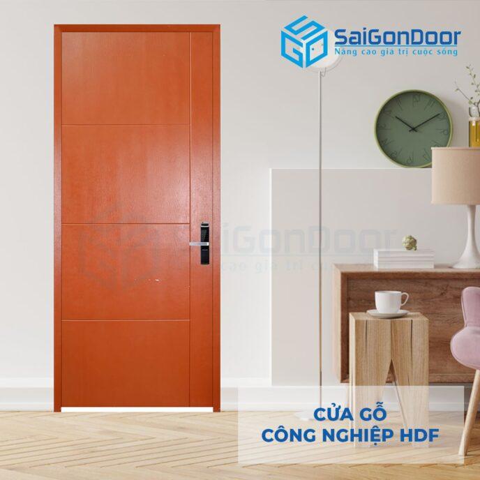 Cửa gỗ công nghiệp HDF P1R4 C10