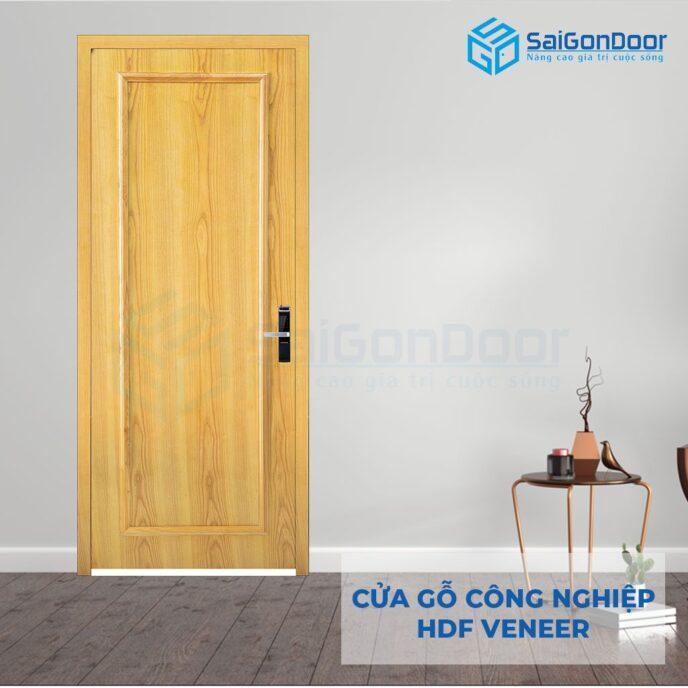 Cửa gỗ công nghiệp HDF Veneer 1B soi