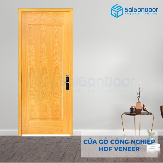 Cửa gỗ công nghiệp HDF Veneer 1B ash