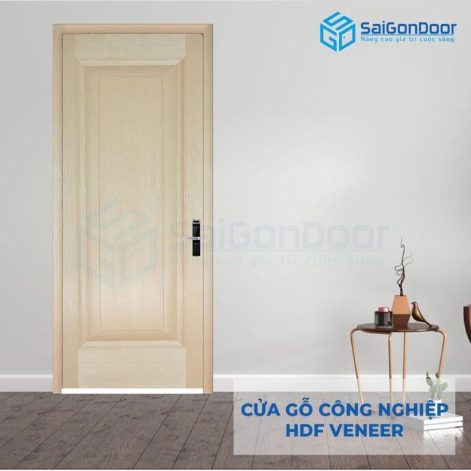 Cửa gỗ công nghiệp HDF Veneer 1B-ash