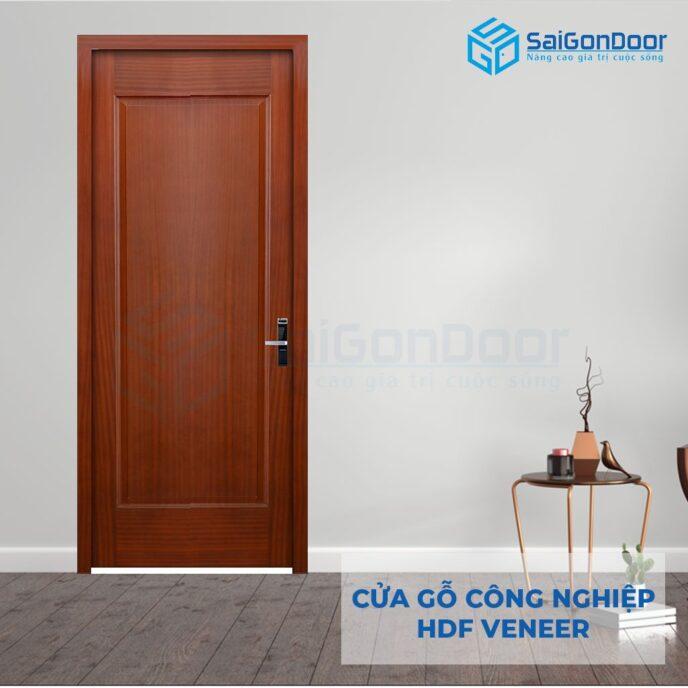 Cửa gỗ công nghiệp HDF Veneer 1B xoan dao