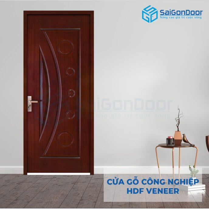 Cửa gỗ công nghiệp HDF Veneer 1K-Cam xe