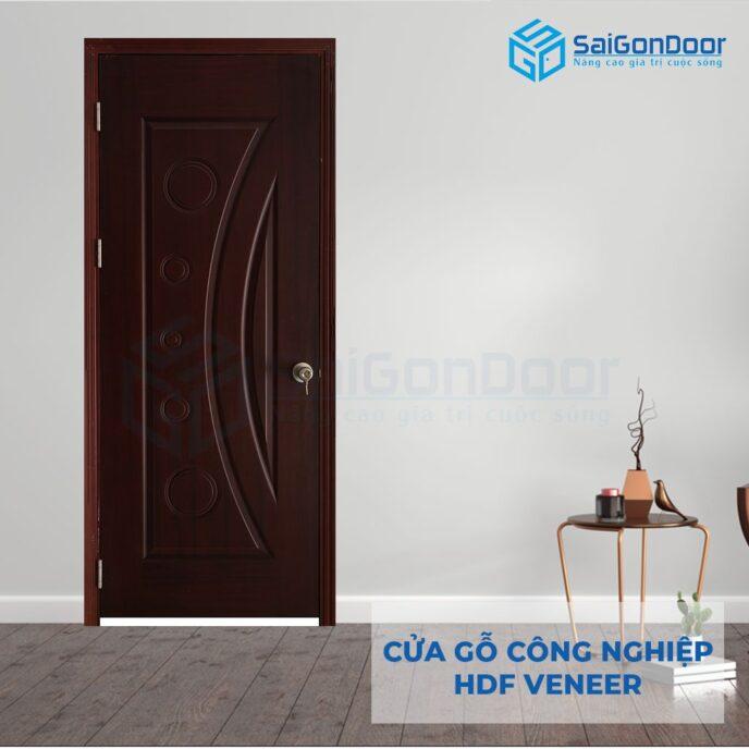 Cửa gỗ công nghiệp HDF Veneer 1K cam xe (3)